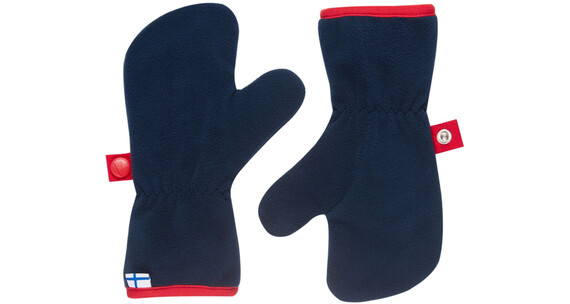 Finkid Nupukka Gloves Kids navy/red